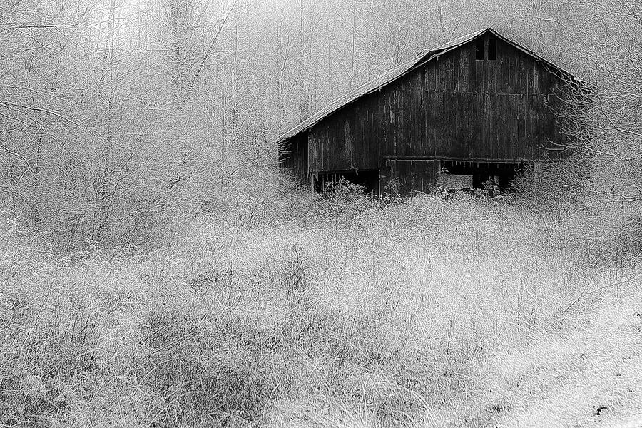 Frosted Barn by Rick Hartigan