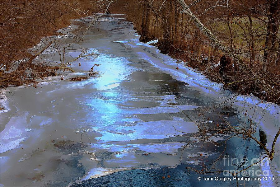 Creek Photograph - Frosting The Jordan by Tami Quigley