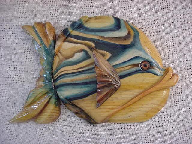 Fish Mixed Media - Frostproof- Wooden Florida Series by Lisa Ruggiero