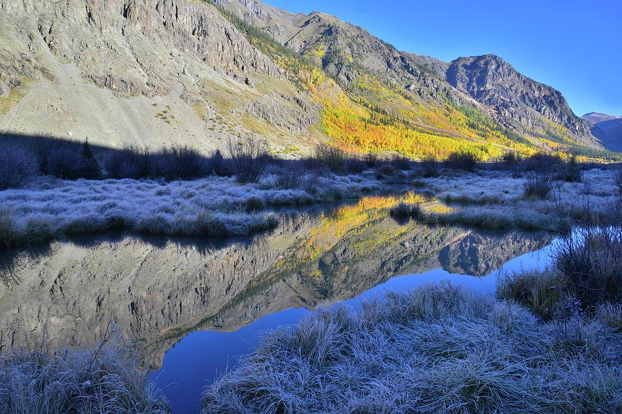 Frosty Fall Morning Along Alpine Loop Photograph