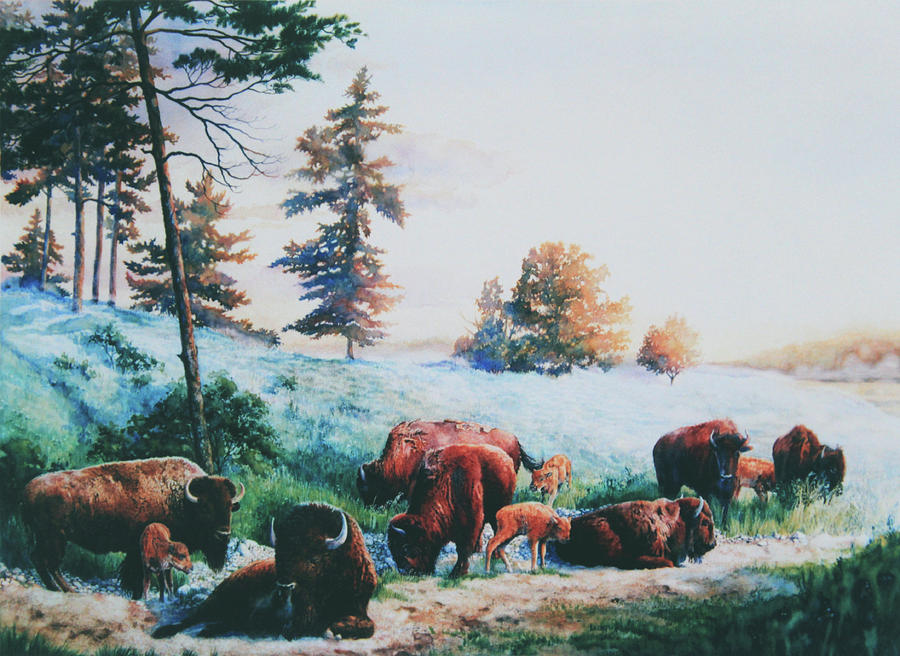 Wildlife Artist Painting - Frosty Morning by Hanne Lore Koehler