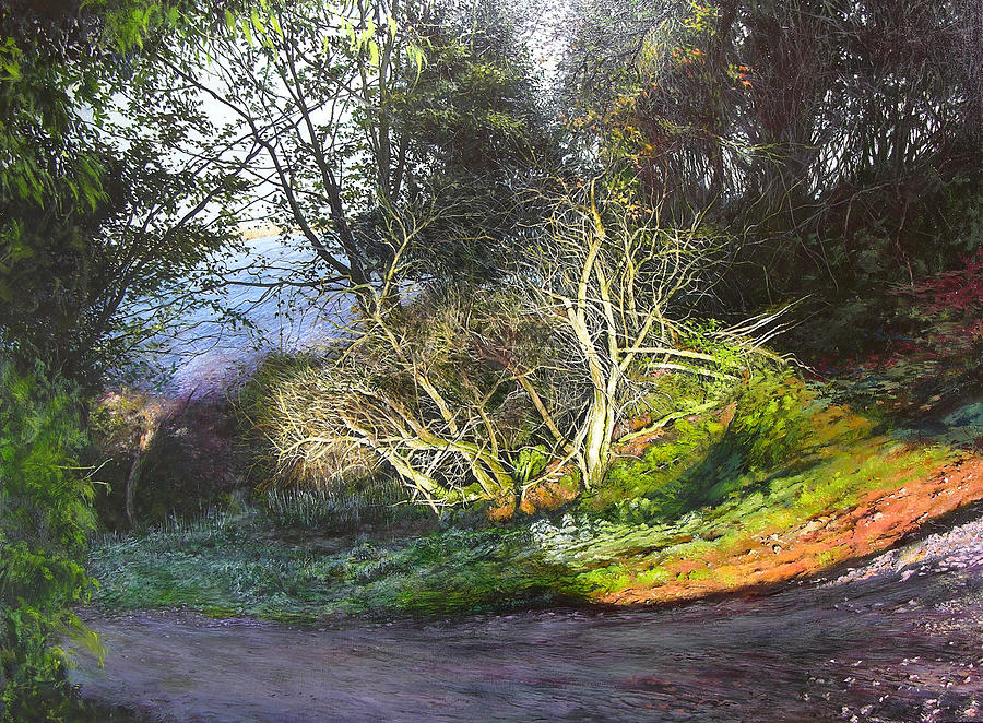 Landscape Painting - Frosty Morning Near Nant Clwyd by Harry Robertson