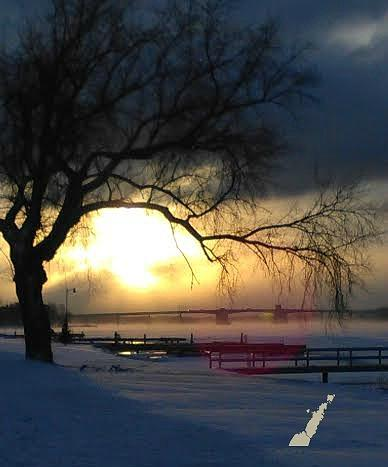 Frosty Morning Sturgeon Bay Harbor by Perry Andropolis