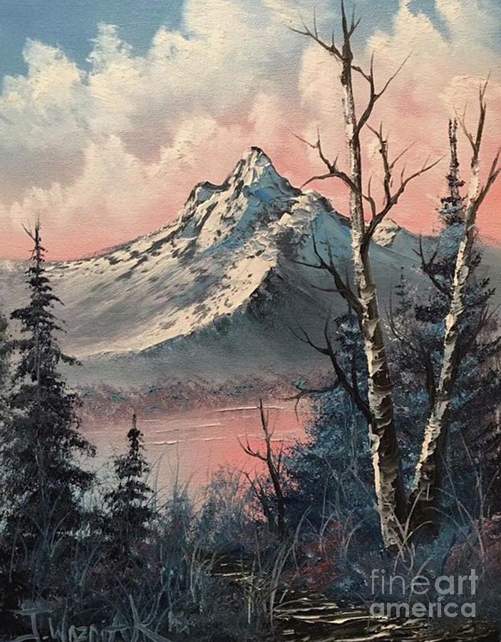 Frosty mountain  by Justin Wozniak