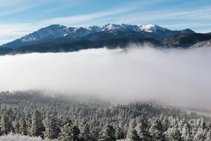 Frosty Pikes Peak Photograph