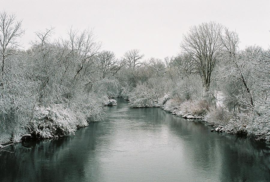 Frost Photograph - Frosty River by Lauri Novak