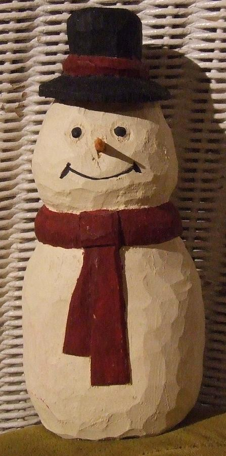 Carving Sculpture - Frosty by Scott Ritchie