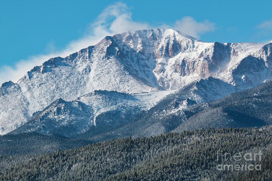 Frosty Snow On Pikes Peak Photograph