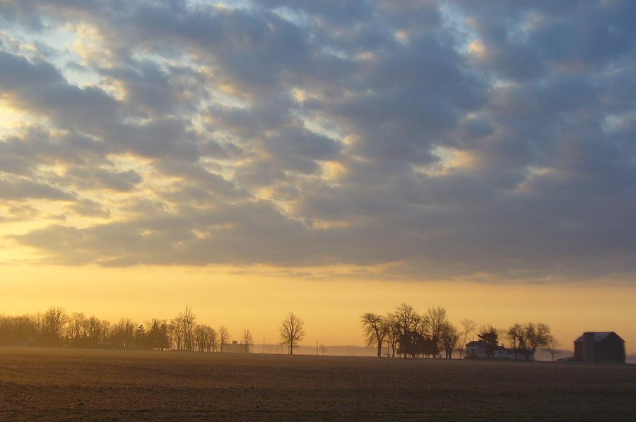 Sunrise Photograph - Frosty Spring Sunrise by Peggy King