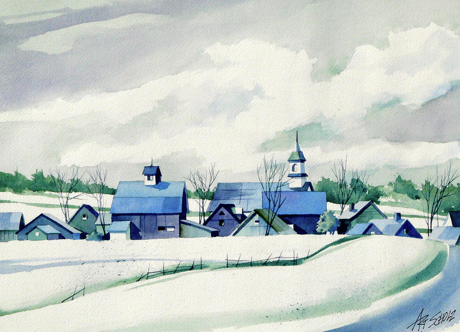 Frozen Aqua Painting by Art Scholz