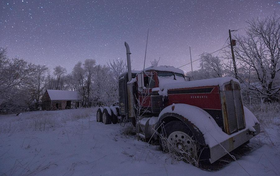 Stars Photograph - Frozen Big Rig by Aaron J Groen
