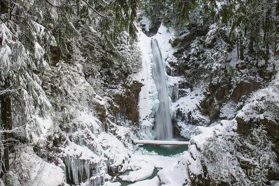 Frozen Cascade by Rod Wiens