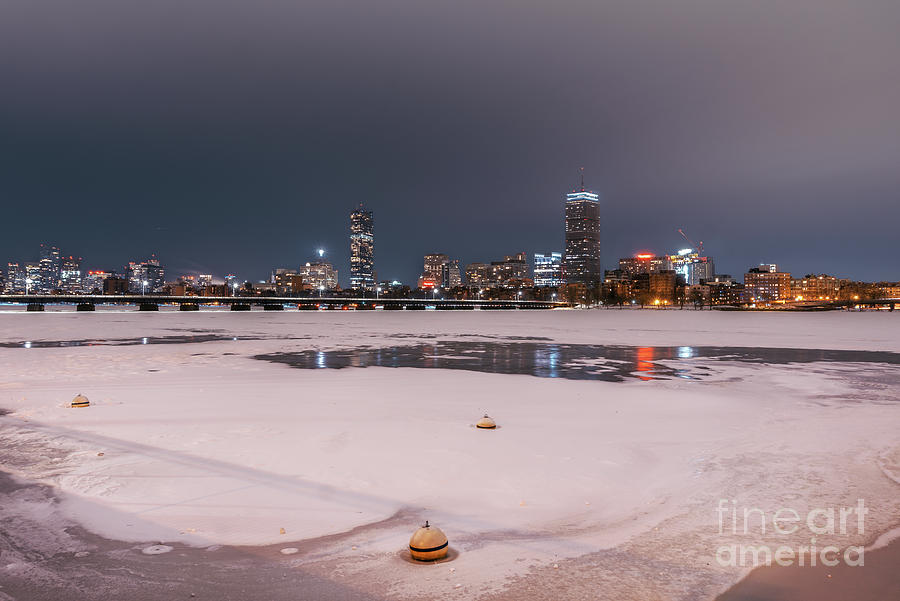 Frozen Charles River Photograph
