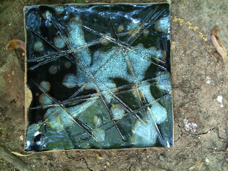 Blue Ceramic Art - Frozen by Emily Osborne