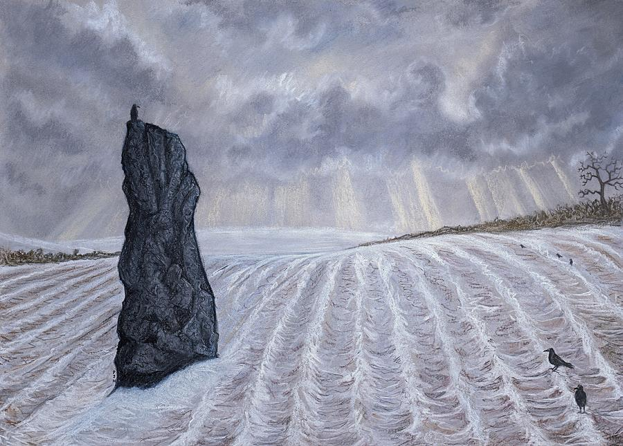 Figurative Mixed Media - Frozen Field Megalith by Philip Harvey