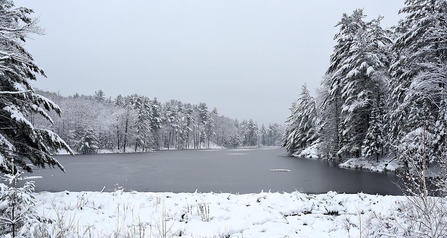 Landscape Photograph - Frozen Lake 1 by Sergei Dratchev