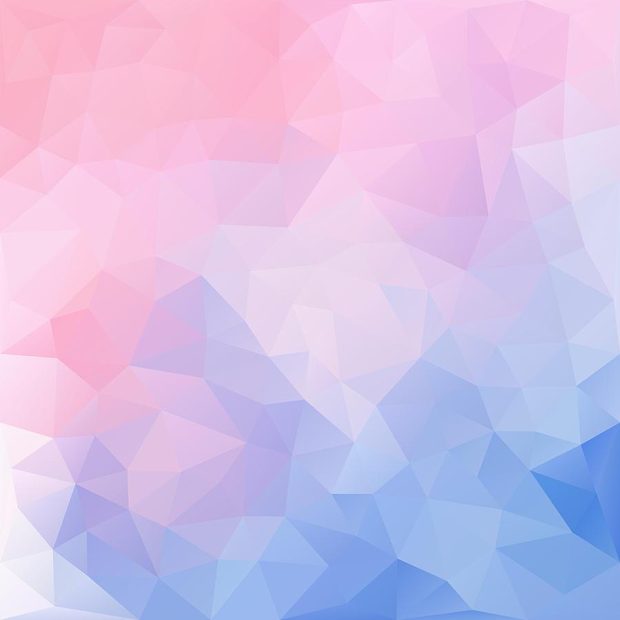 Geometric Digital Art - Frozen Lake Triangles Design by Nessikk