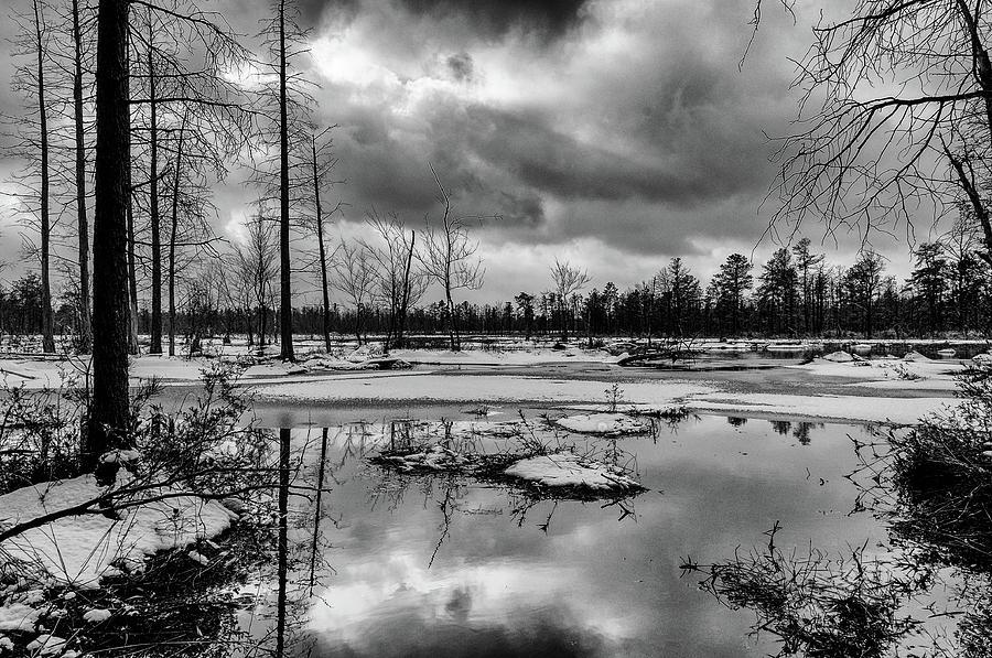Landscape Photograph - Frozen Mullica River by Louis Dallara