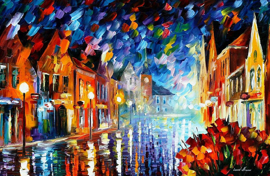 SPARKS OF FREEDOM 2 — PALETTE KNIFE Oil Painting On Canvas