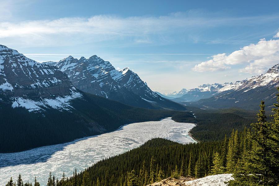 Peyto Lake Photograph - Frozen Peyto Lake by M C Hood