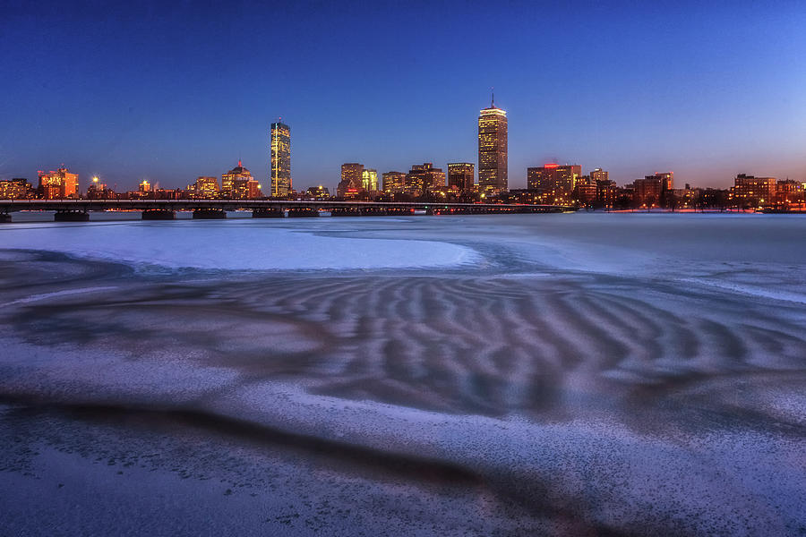 Frozen River Rippled by Sylvia J Zarco