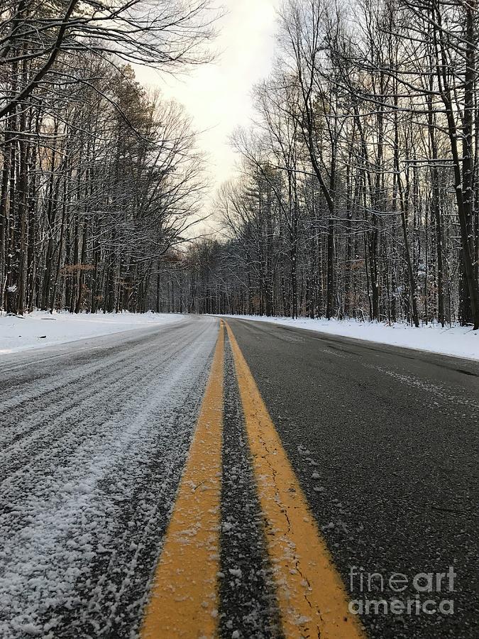 Frozen Photograph - Frozen Road In Life by Michael Krek