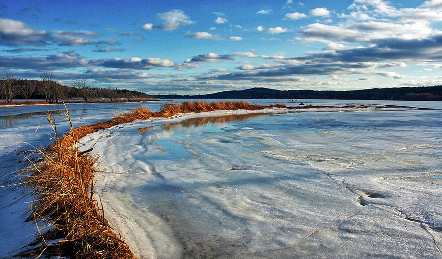 Frozen Shoreline HDR by Jeff Galbraith