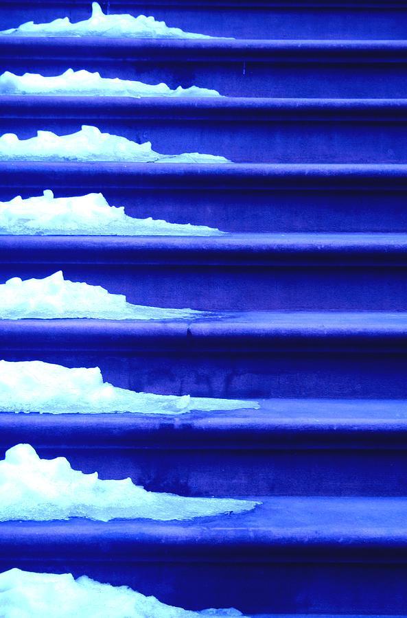 Ice Photograph - Frozen Steps by Eduardo Hugo