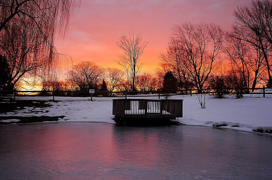 Sunrise Photograph - Frozen Sunrise by Frozen in Time Fine Art Photography