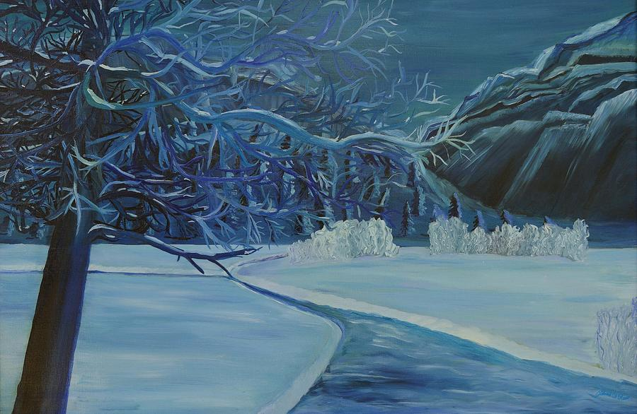 Frozen Tangle in Blue by Deborah D Russo
