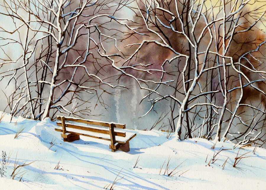 Bench Painting - Frozen  View by Art Scholz