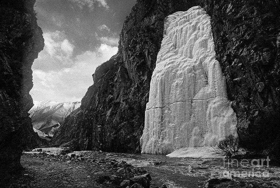 Frozen Waterfall - Tibet by Craig Lovell