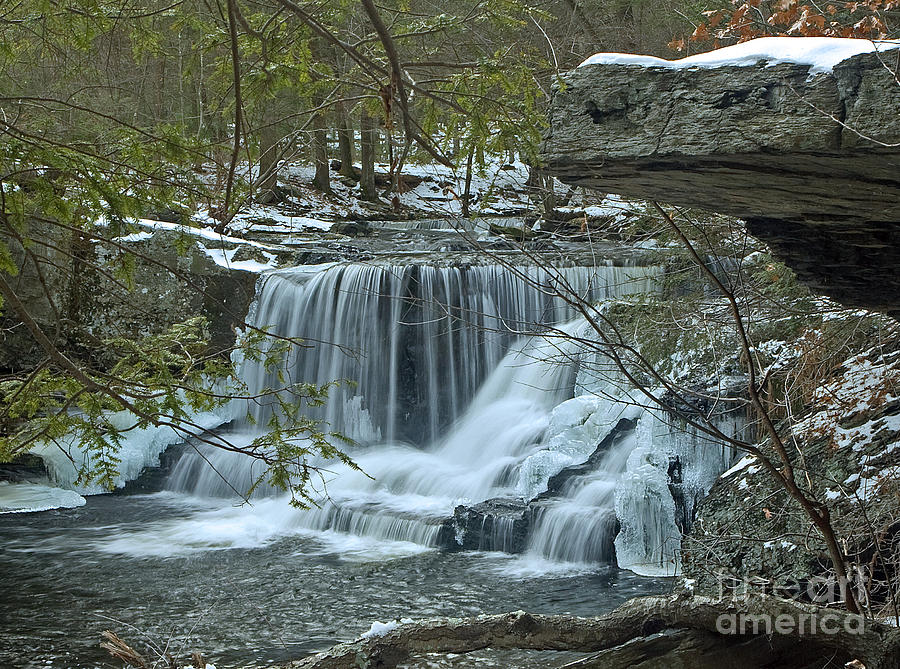 Waterfall Photograph - Frozen Waterfalls by Robert Pilkington