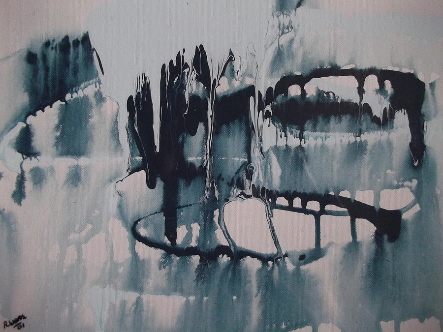 Ice Painting - Frozen World by Rivka Waas