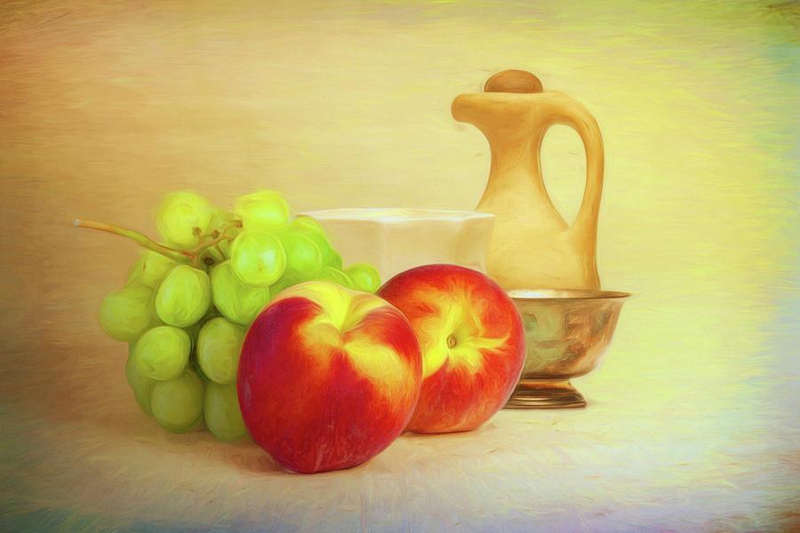 Fruit Photograph - Fruit And Dishware Still Life by Tom Mc Nemar