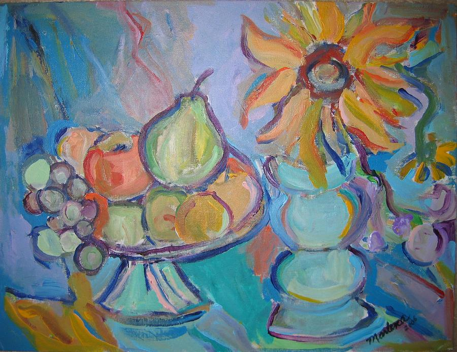 Fruit Painting - Fruit and Flowers 2 by Marlene Robbins