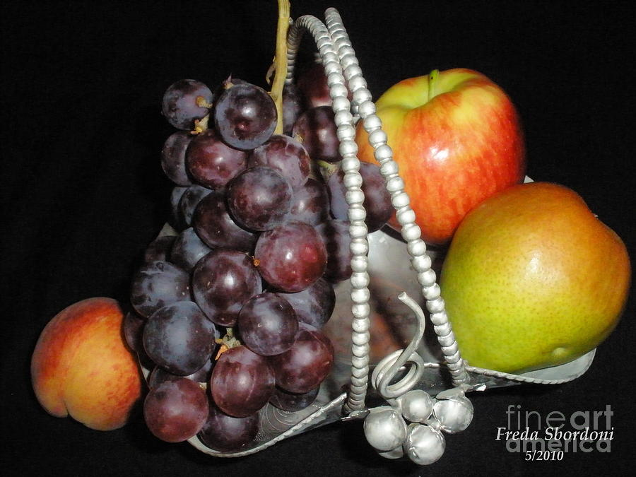 Still Life Photograph - Fruit Basket II by Freda Sbordoni