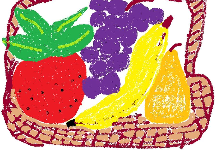 Fruit Digital Art - Fruit Basket by Rosemary Mazzulla