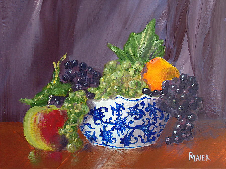 Fruit Painting - Fruit Bowl by Pete Maier