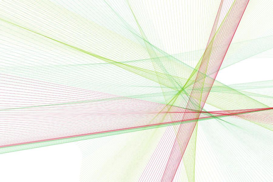 Abstract Digital Art - Fruit Computer Graphic Line Pattern by Frank Ramspott