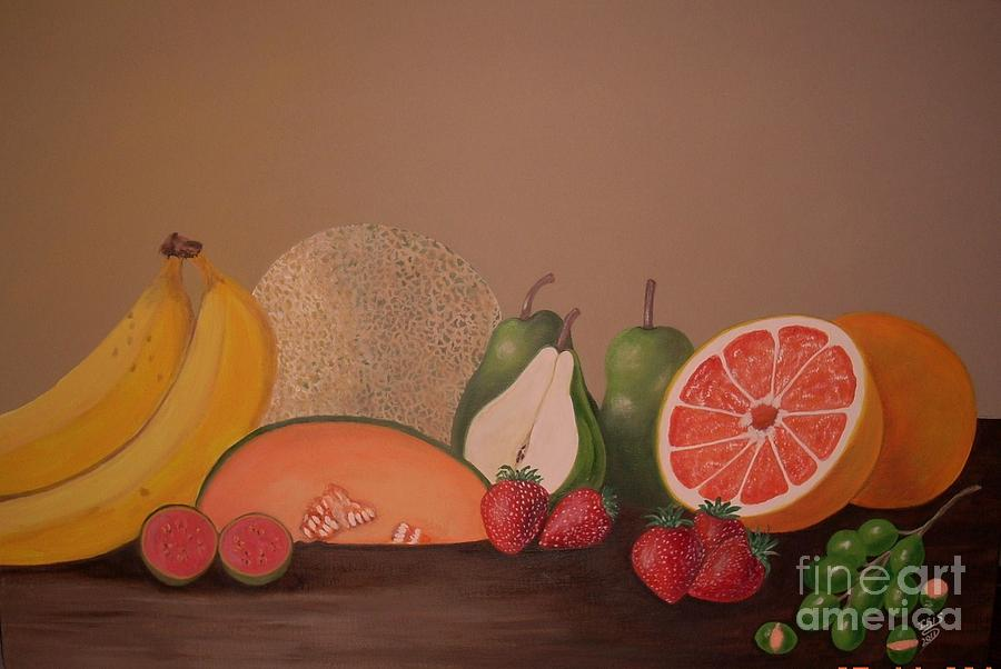 Fruits Painting - Fruit Delight by Iris  Mora
