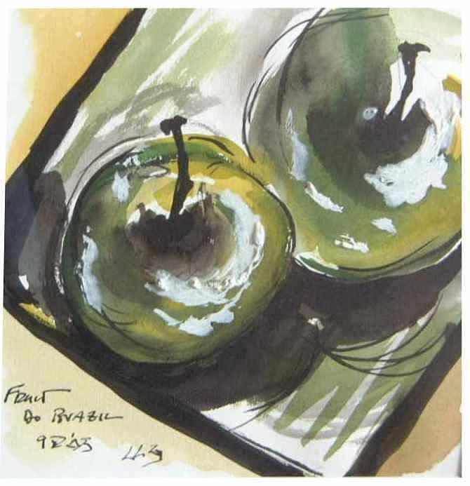 Still Life Painting - Fruit do Brasil SOLD by Christopher Green