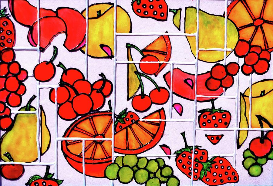 Fruits Painting - Fruit Fractals by Farah Faizal