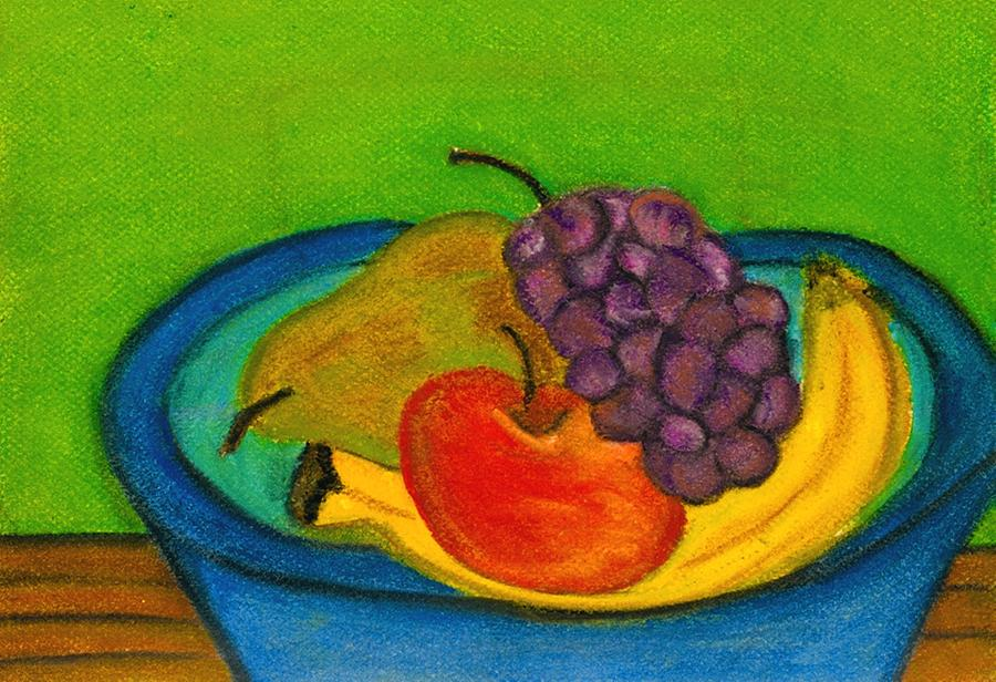 Fruit In Bowl Drawing By Katina Cote
