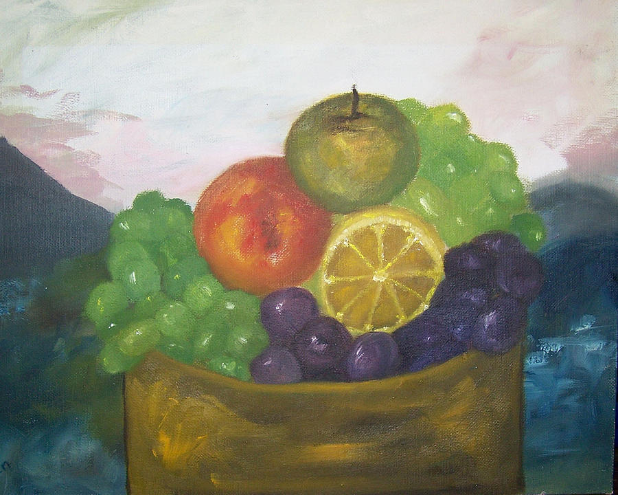 Oil Painting Painting - Fruit Of The Land by Pamela Wilson