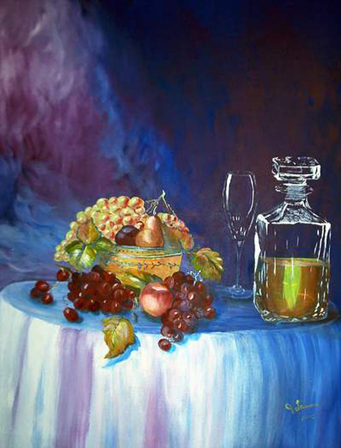 Still Life Painting - Fruit Of The Vine by JLamons