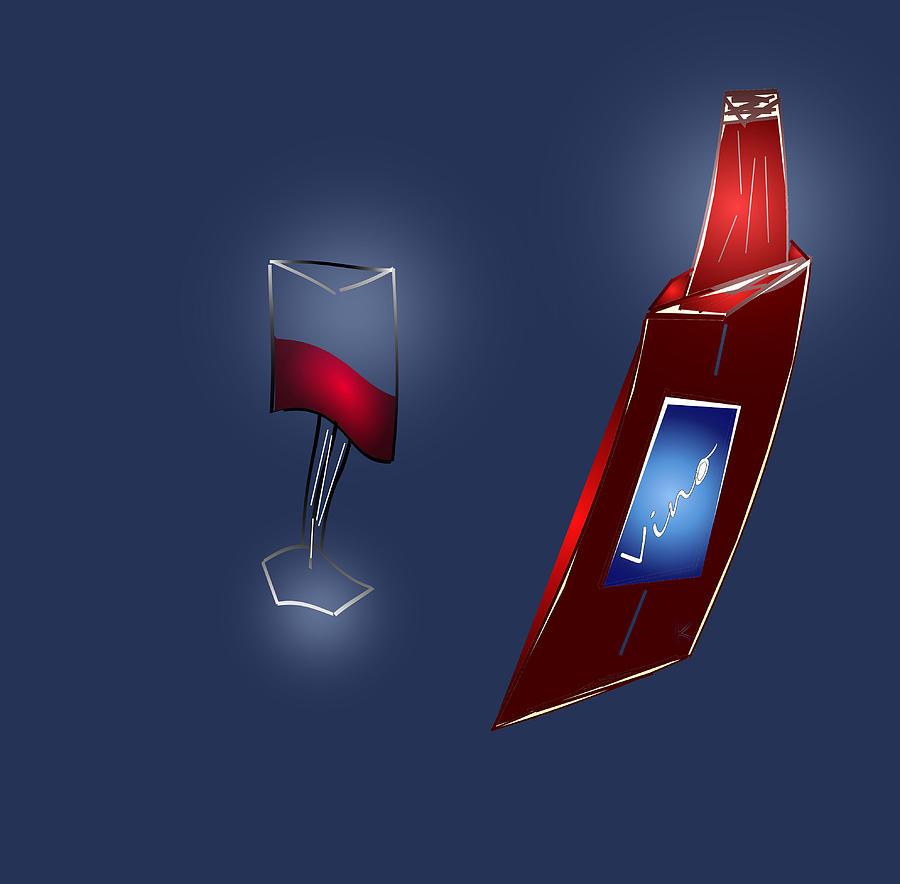 Abstract Digital Art - Fruit Of The Vine by John Krakora