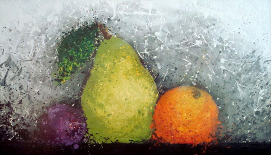 Kitchen Artwork Mixed Media - Fruit by Paula Weber
