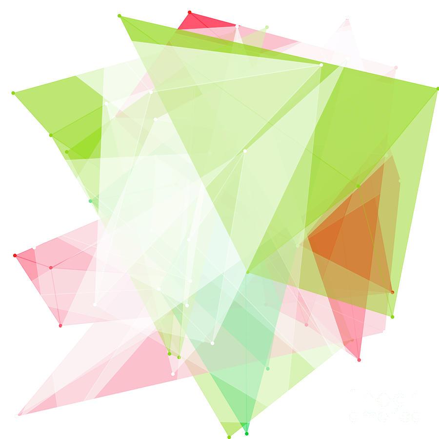 Abstract Digital Art - Fruit Polygon Pattern by Frank Ramspott