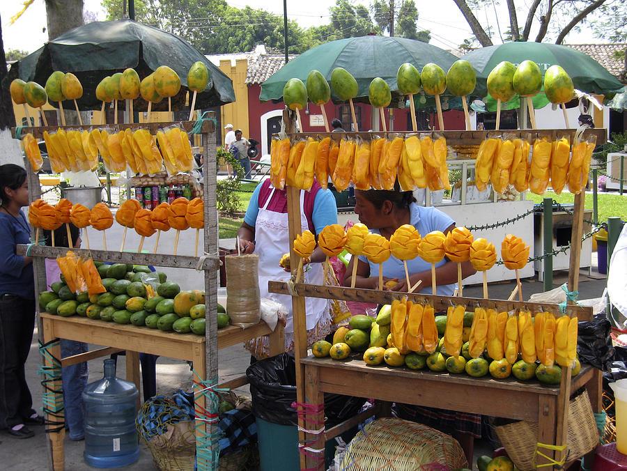 Antigua Photograph - Fruit Stand Antigua  Guatemala by Kurt Van Wagner